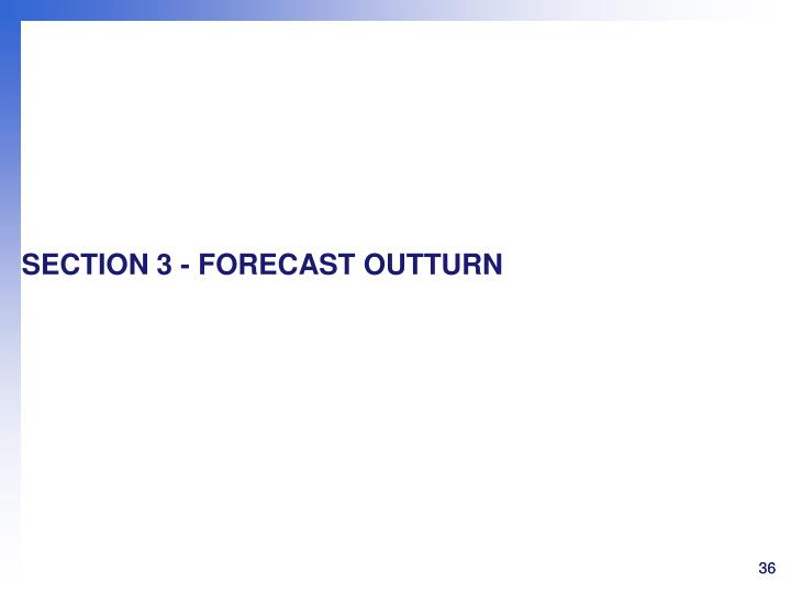 SECTION 3 - FORECAST OUTTURN