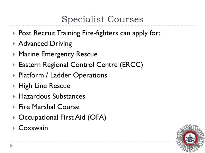 Specialist Courses