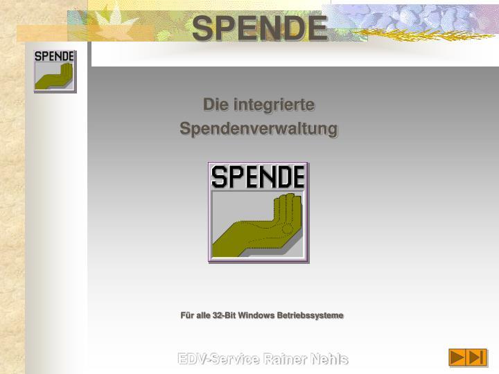 spende n.