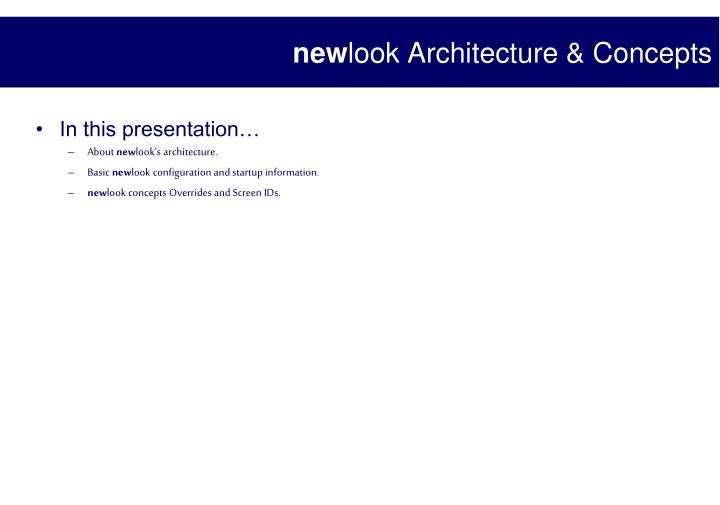 new look architecture concepts n.
