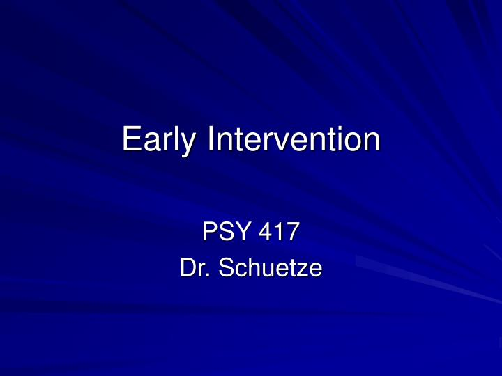 early intervention history Early intervention services are a range of targeted services to help young children who have developmental delays or specific health conditions different types of specialists work with these kids providing services early helps children catch up and increases their chances for success in school and life overall.