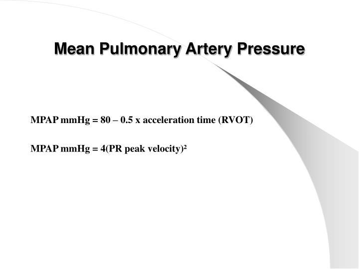 Mean Pulmonary Artery Pressure