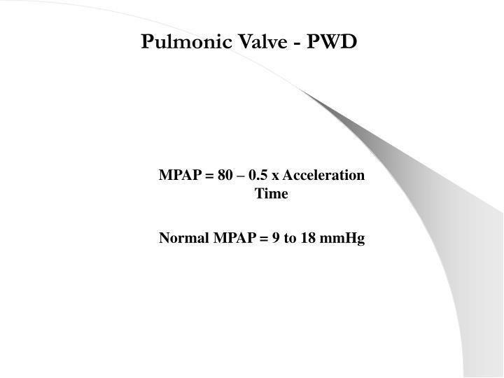 Pulmonic Valve - PWD