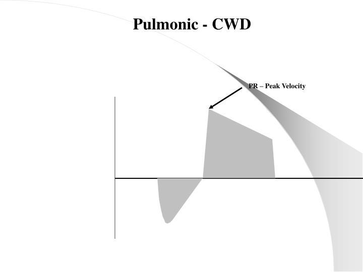 Pulmonic - CWD