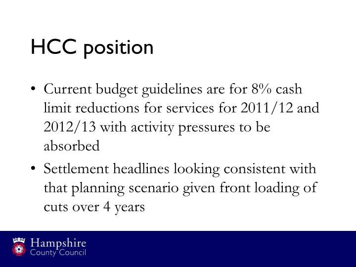 HCC position