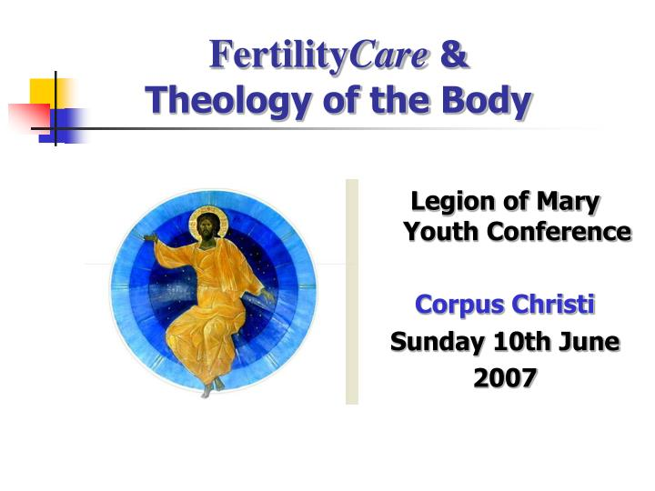 fertility care theology of the body n.