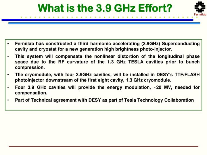 What is the 3 9 ghz effort
