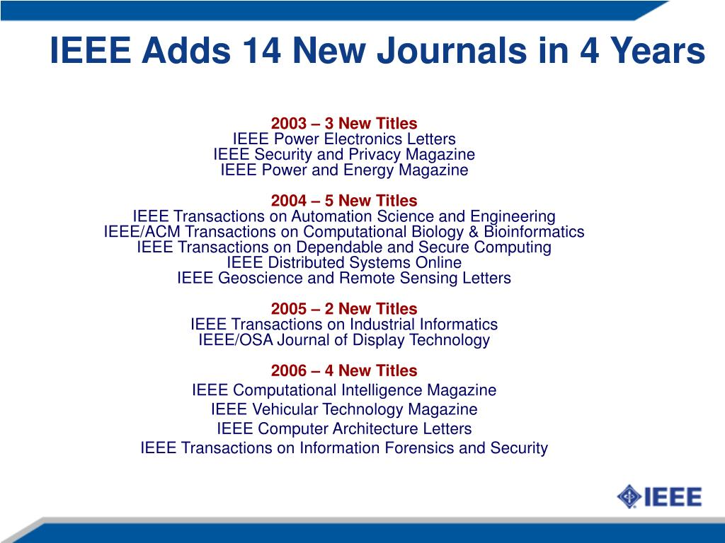 PPT - Welcome to the IEEE IEEE Digital Library update