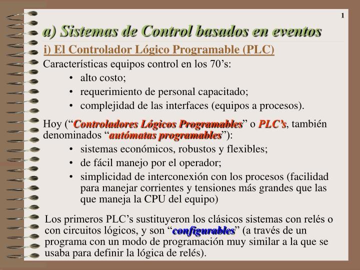a sistemas de control basados en eventos n.