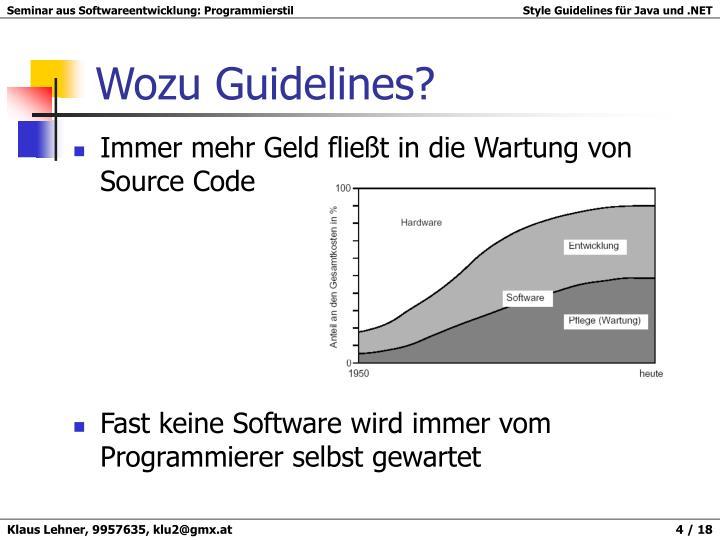 Wozu Guidelines?