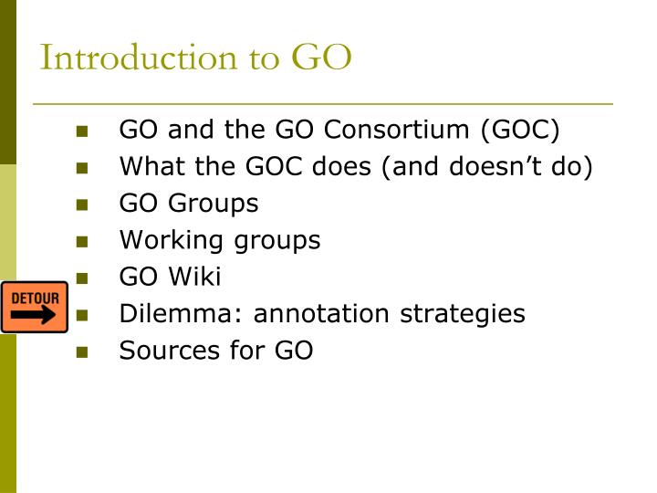 Introduction to go