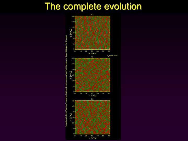 The complete evolution