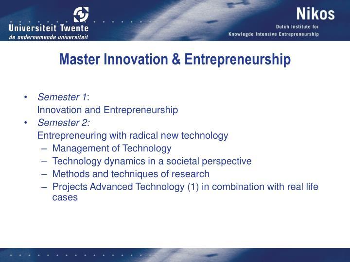 Master Innovation & Entrepreneurship