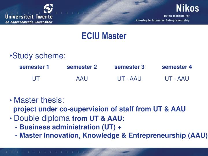 ECIU Master