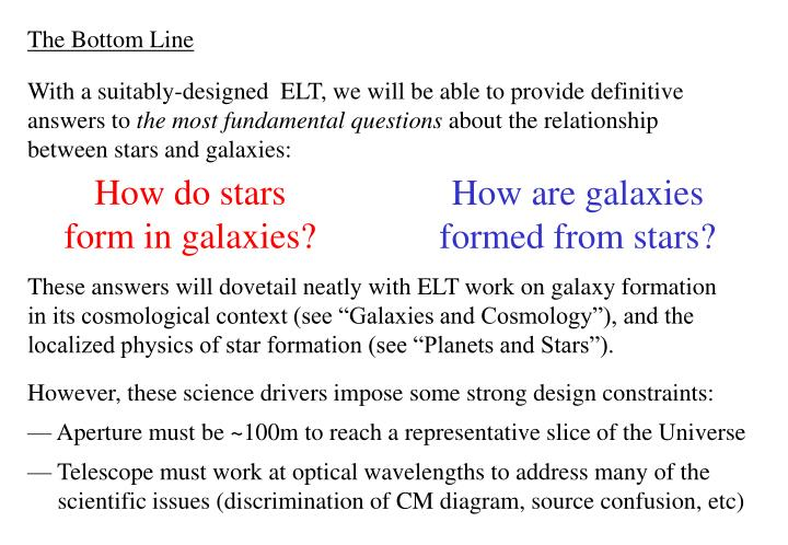 How do stars form in galaxies?