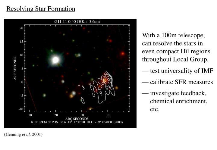 Resolving Star Formation