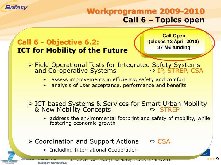 Workprogramme 2009-2010