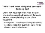 what is the under occupation penalty or bedroom tax