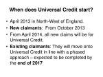 when does universal credit start