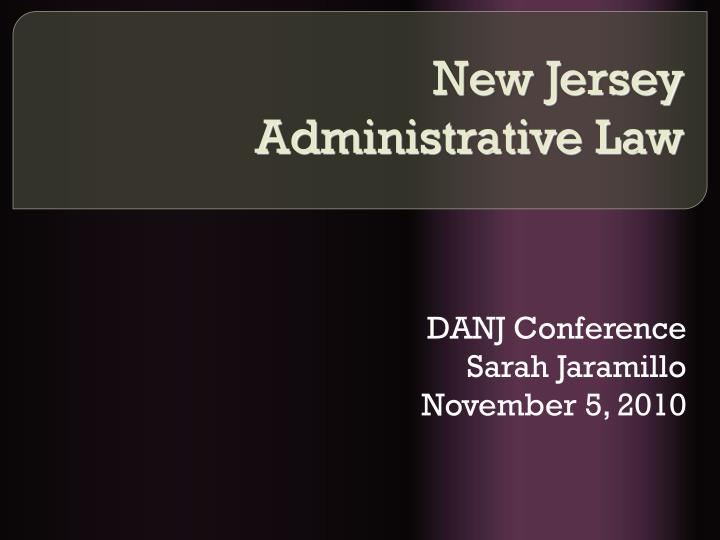 new jersey administrative law n.