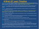 a brief 57 year timeline