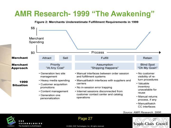 "AMR Research- 1999 ""The Awakening"""