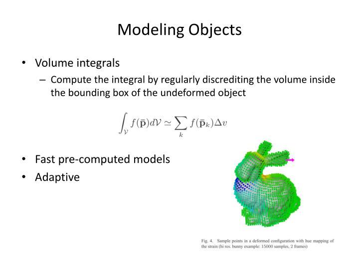 Modeling Objects