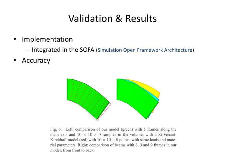 Validation & Results