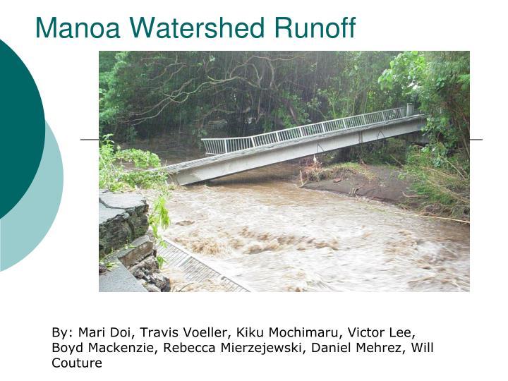 manoa watershed runoff n.