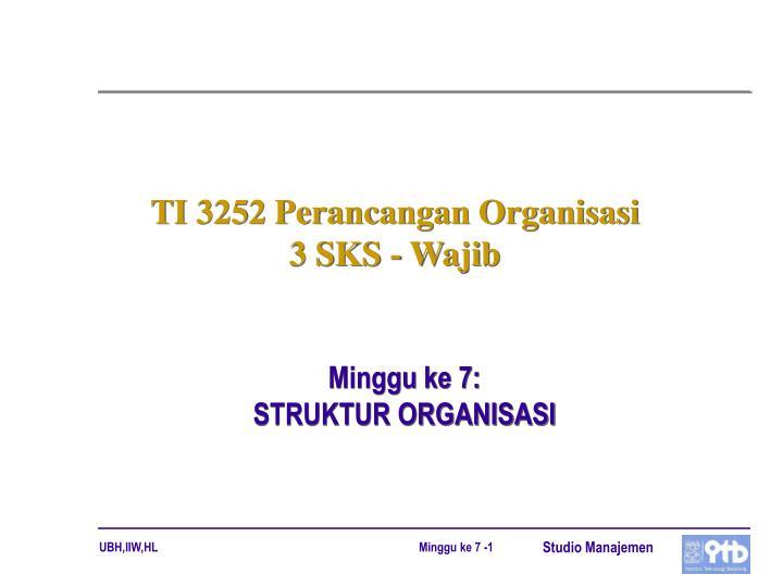 ti 3252 perancangan organisasi 3 sks wajib n.