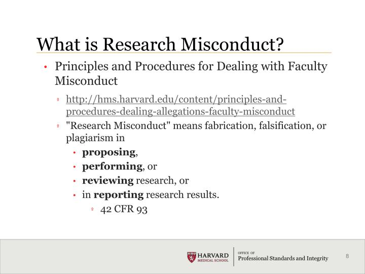 What is Research Misconduct?