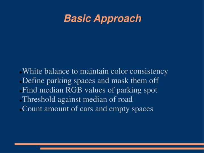 White balance to maintain color consistency