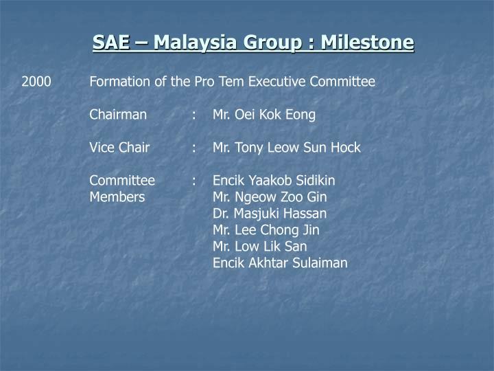 Sae malaysia group milestone