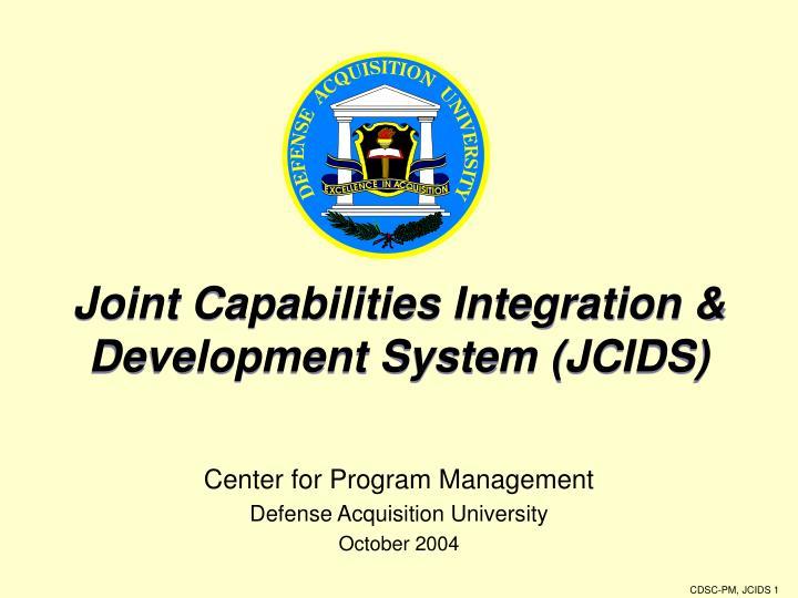 joint capabilities integration development system jcids n.