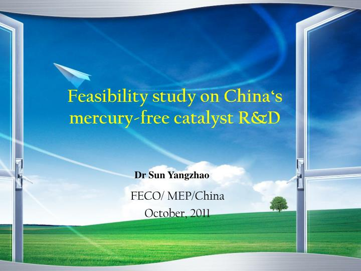feasibility study on china s mercury free catalyst r d n.