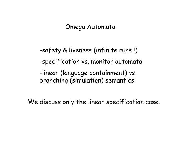 Omega Automata