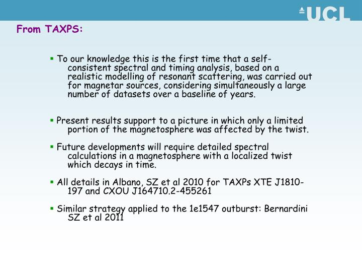From TAXPS: