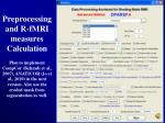 preprocessing and r fmri measures calculation13
