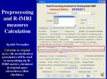 preprocessing and r fmri measures calculation15