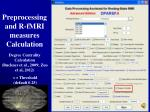 preprocessing and r fmri measures calculation23