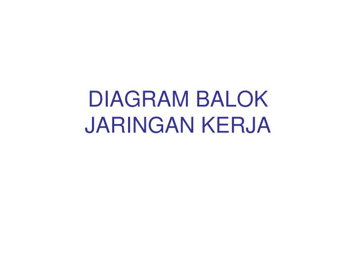 Ppt diagram balok jaringan kerja powerpoint presentation id3400461 diagram balok jaringan kerja ccuart Image collections