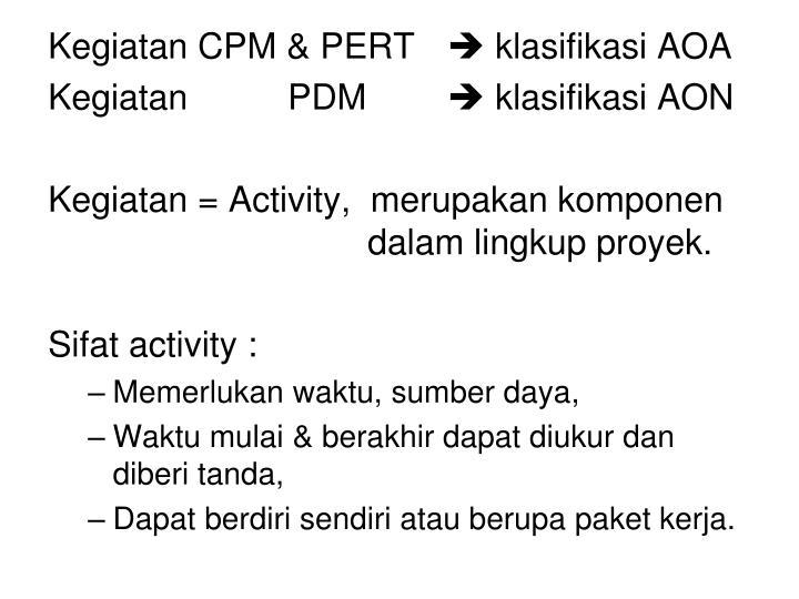 Kegiatan CPM & PERT
