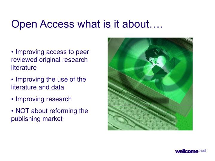 Improving access to peer reviewed original research literature