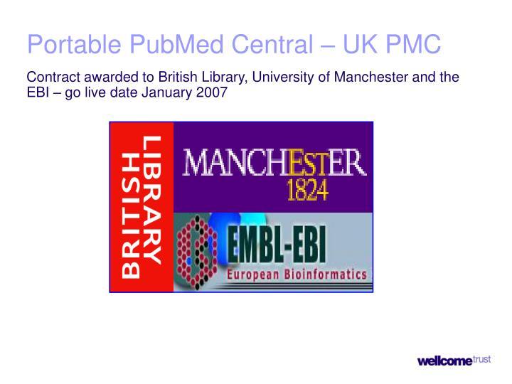 Portable PubMed Central – UK PMC