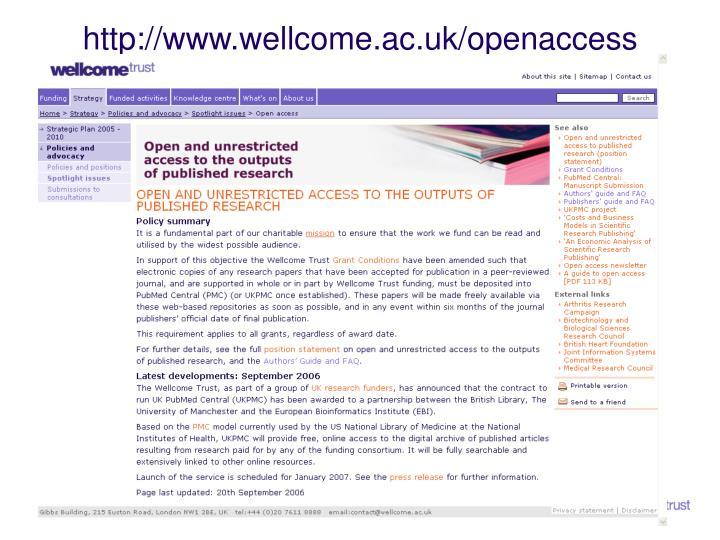 http://www.wellcome.ac.uk/openaccess