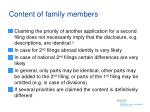 content of family members