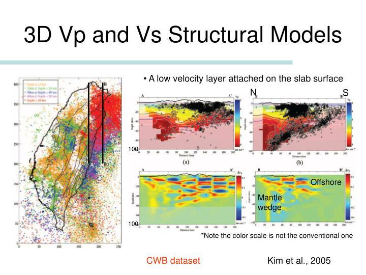 3D Vp and Vs Structural Models