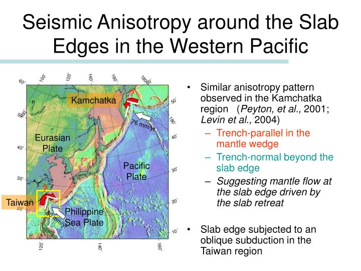 Seismic Anisotropy around the Slab Edges in the Western Pacific