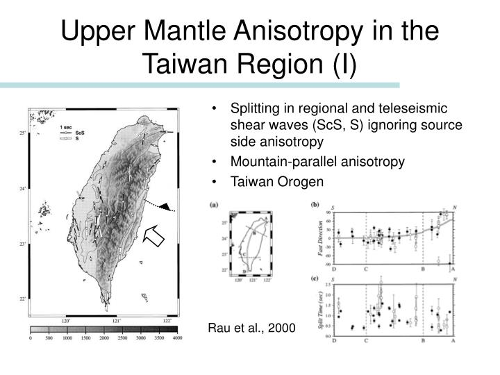 Upper Mantle Anisotropy in the Taiwan Region (I)