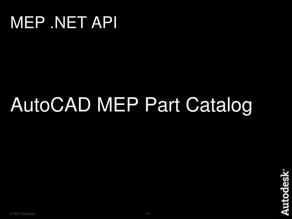 PPT - AutoCAD MEP  NET API PowerPoint Presentation - ID:3400735